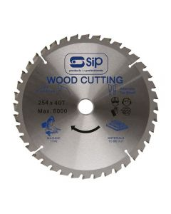 SIP 06184 10in (254x25.4mm) TCT Circular Saw Blade, 40 Tooth (01332)